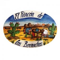 Placa Decorativa El Rincón de los Borrachos